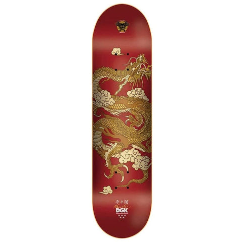 DGK X BRUCE LEE GOLD DRAGON LENTICULAR RED 8.25""