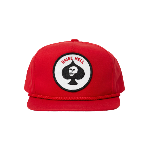 CRAWLING DEATH RAISE HELL HAT RED