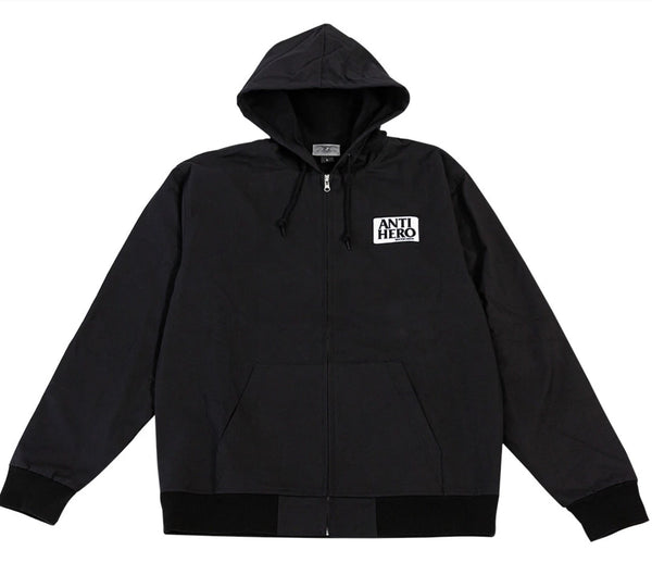 ANTI HERO JACKET REVERSE HOODED ZIP UP BLACK