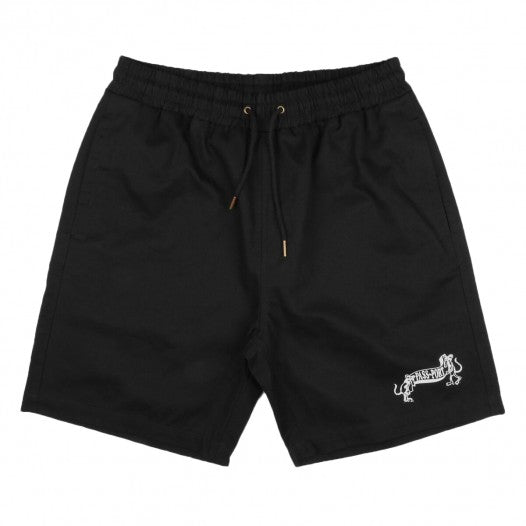 PASS~PORT P~P MISSING TILDE SHORTS BLACK