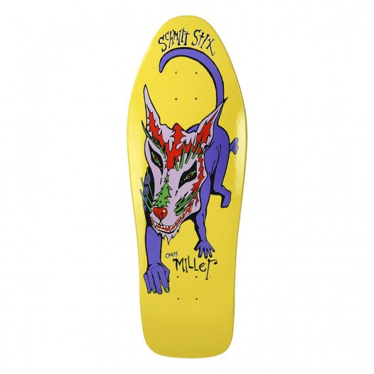 "SCHMITT STIX CHRIS MILLER DOG YELLOW DIP 10.0"" OLD SCHOOL DECK REISSUE"