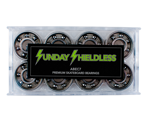 SUNDAY HARDWARE SHIELDLESS ABEC 7 BEARINGS