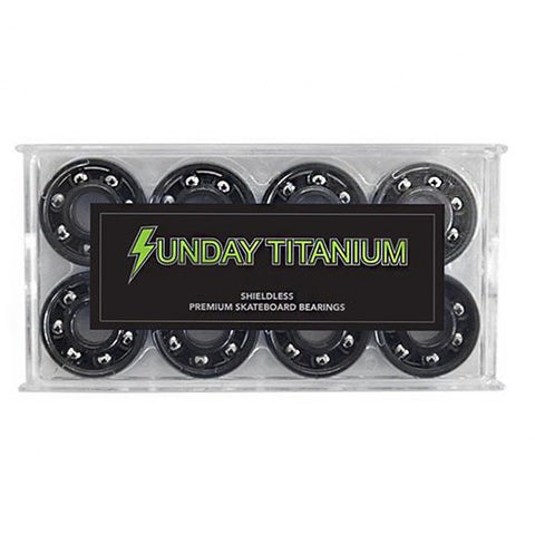 SUNDAY TITANIUM SHIELDLESS BEARINGS