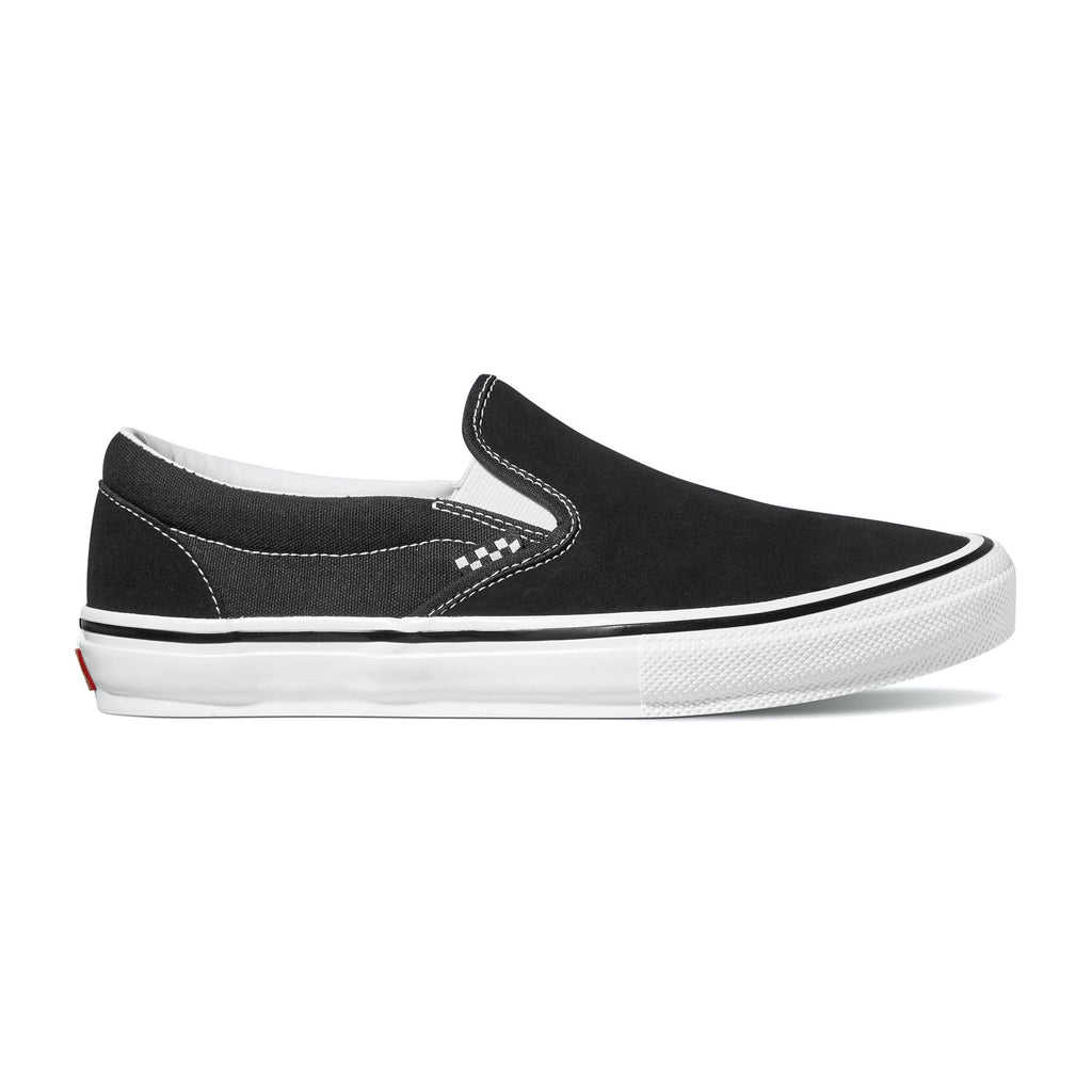 VANS SKATE SLIP ON BLACK/WHITE