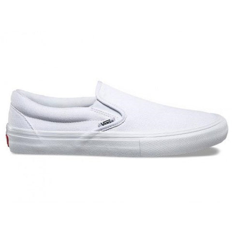 VANS SLIP ON PRO WHITE/WHITE