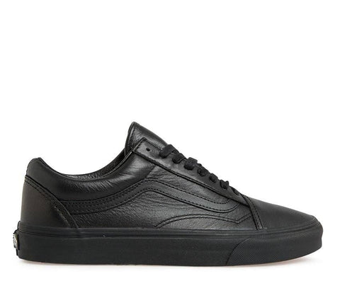 VANS OLD SKOOL LEATHER BLACK/BLACK