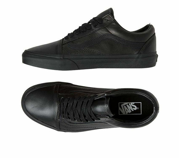 VANS KIDS OLD SKOOL LEATHER BLACK/BLACK