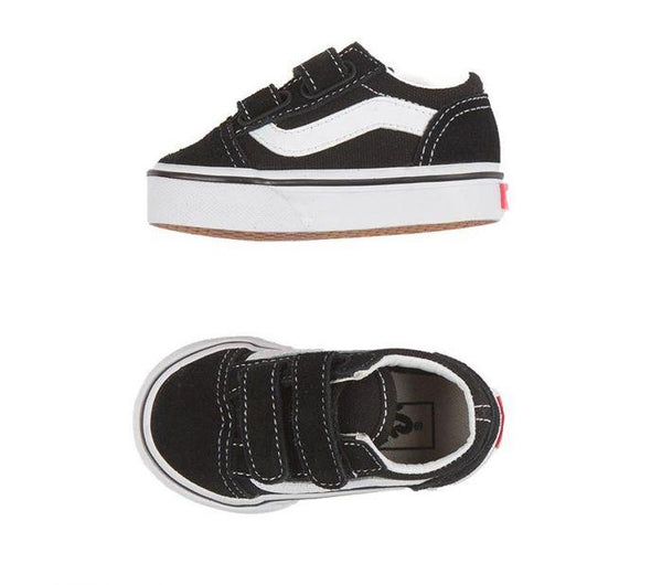 VANS TODDLER OLD SKOOL VELCRO BLACK/WHITE