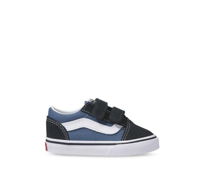 VANS TODDLER OLD SKOOL VELCRO NAVY