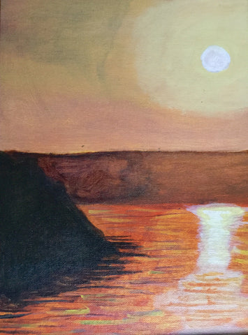 Acrylic: Island Sunset