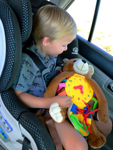 Buckle Toy Teddy Bear for Toddler Travel