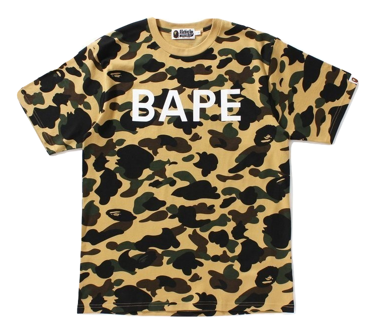A Bathing Ape 1st Camo Bape Tee Yellow Camo
