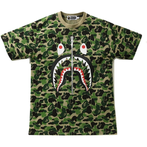 A Bathing Ape ABC Shark Tee - Green Camo - Used