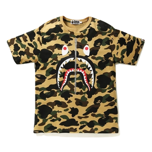 A Bathing Ape 1st Camo Shark Tee - Yellow Camo