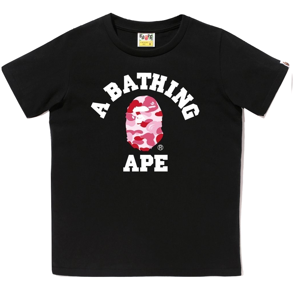 A Bathing Ape College Tee - Black
