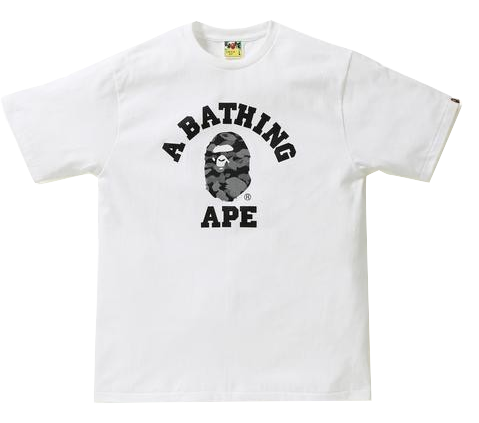 A Bathing Ape College Tee - Reflective Black Camo