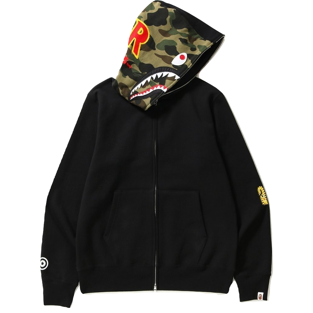A Bathing Ape 2nd Shark Full Zip Hoodie - Black