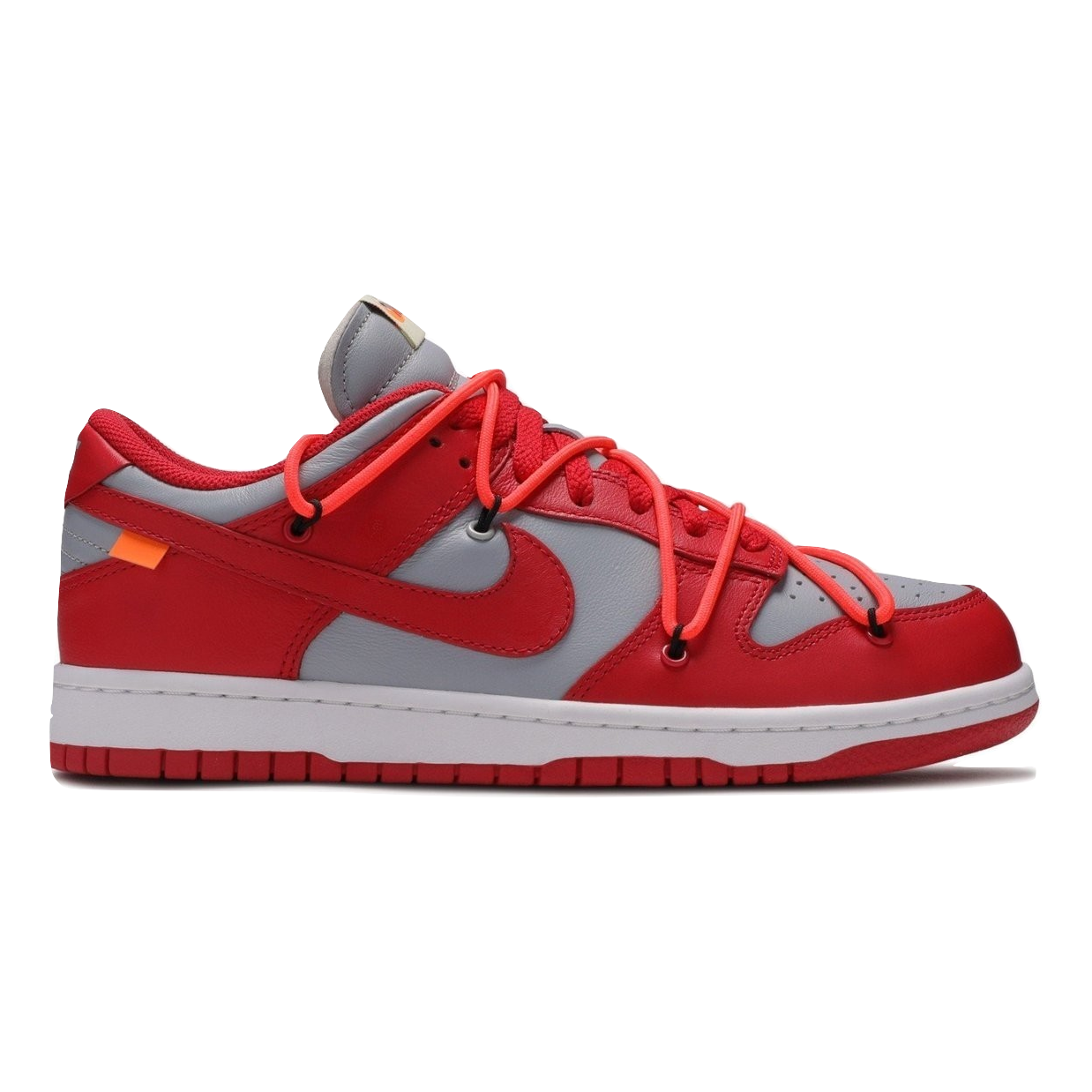 Nike Dunk Low LTHR / OW - University Red - Used
