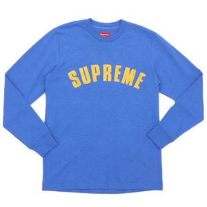 Supreme Arc Logo L/S Top - Blue - Used
