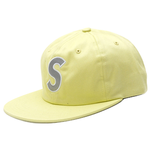 Supreme 3M Reflective S Logo 6-Panel Hat - Pale Lime - Used
