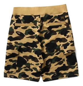 A Bathing Ape 1st Camo 6Pocket Sweat Shorts - Yellow Camo
