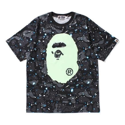 A Bathing Ape Big Ape Tee - Space Camo