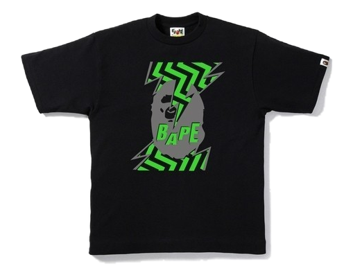 A Bathing Ape Lightning Head Tee