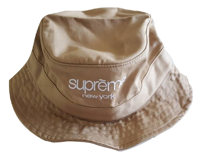 Supreme Classic Logo Crusher Bucket Hat Tan -Used