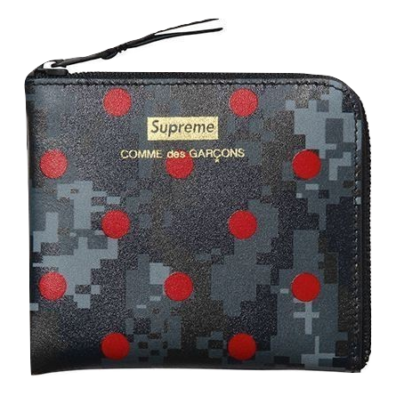 Supreme x CDG Wallet - Navy - Used