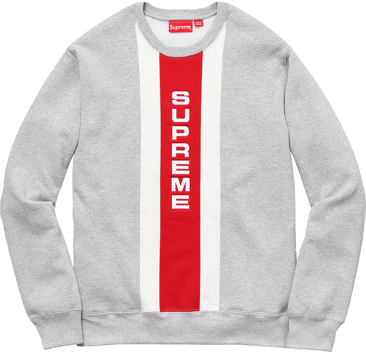 Supreme Vertical Logo Panel Crewneck