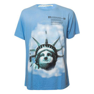 df9dcf33 Off-White Statue Of Liberty Print T-Shirt in Light Blue