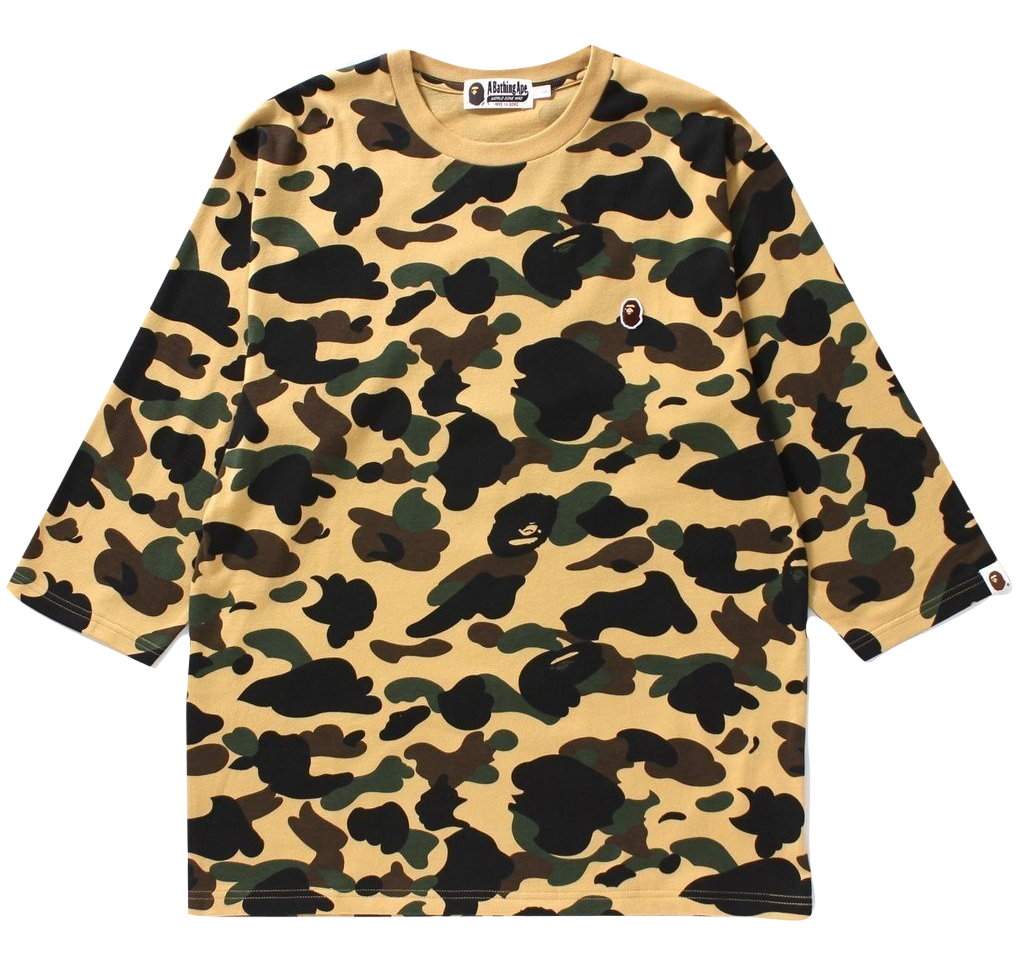 A Bathing Ape 1st Camo 4/5 Sleeve Tee - Used
