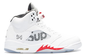 Air Jordan 5 Retro - Supreme White - Used