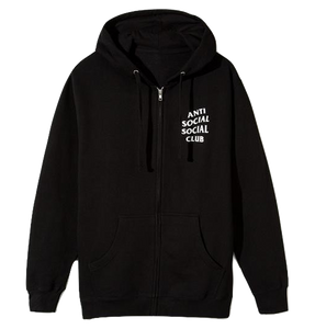 Anti Social Social Club - Mind Games Zip Up Hoodie Black