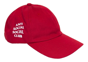 Anti Social Social Club Weird Cap -  Red