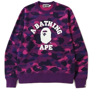 A Bathing Ape Color Camo Crewneck - Purple Camo
