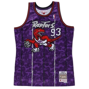 A Bathing Ape x Mitchell N Ness Raptors Jersey - Purple