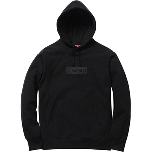 Supreme Box Logo Hooded Sweatshirt FW14 - Black Tonal - Used