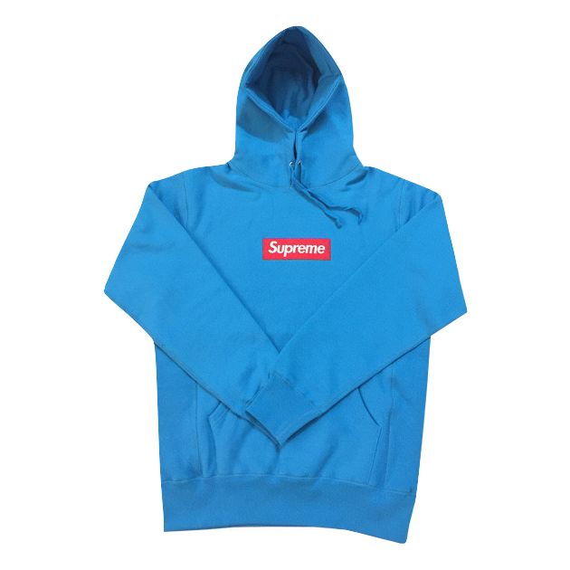 Supreme Box Logo Hooded Sweatshirt FW09 - Teal - Used