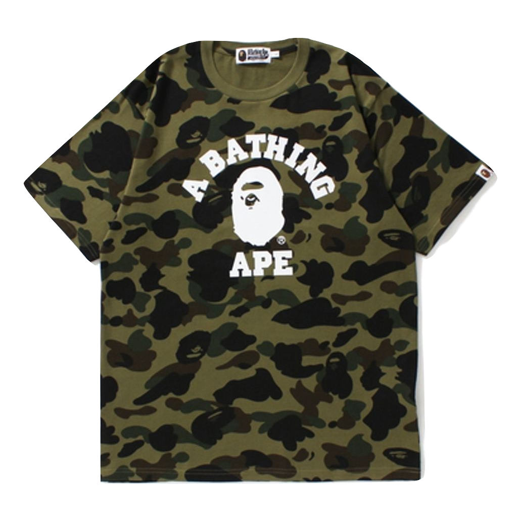 A Bathing Ape 1st Camo College Tee - Used
