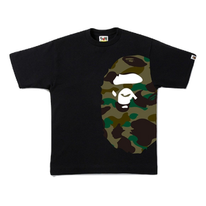A Bathing Ape 1st Camo Side Big Ape Tee - Black/Green Camo
