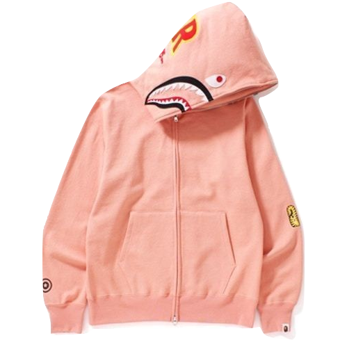 A Bathing Ape 2nd Shark Full Zip Hoodie - Peach - Used