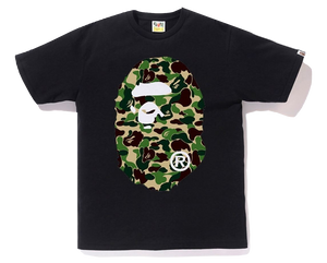 Bape ABC Big Ape Head Tee - Black/Green