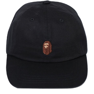 46efa0bb31cc A Bathing Ape Ape Head Embroidery Panel Cap - Black – grails sf