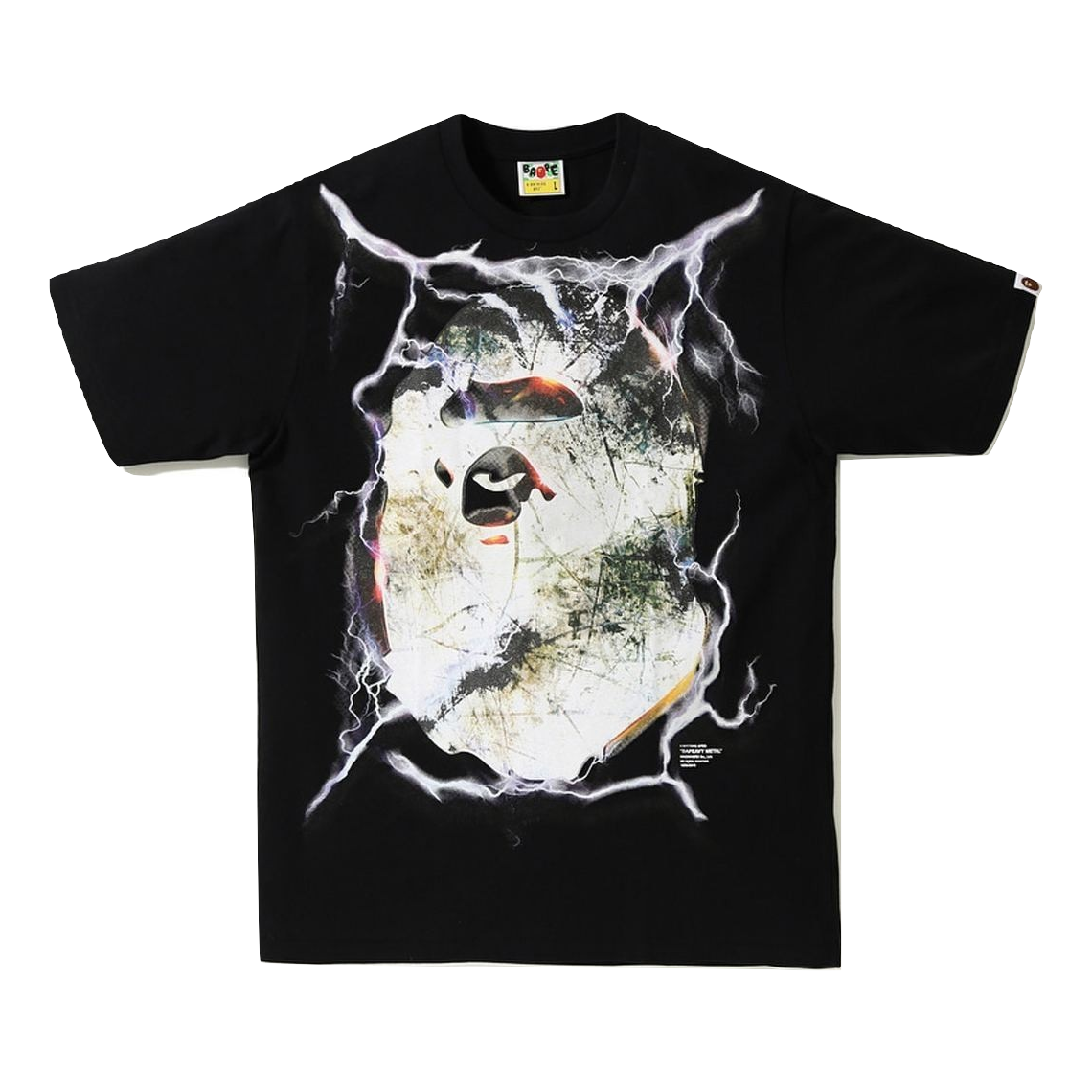 A Bathing Ape Bapeavy Metal Tee - Black