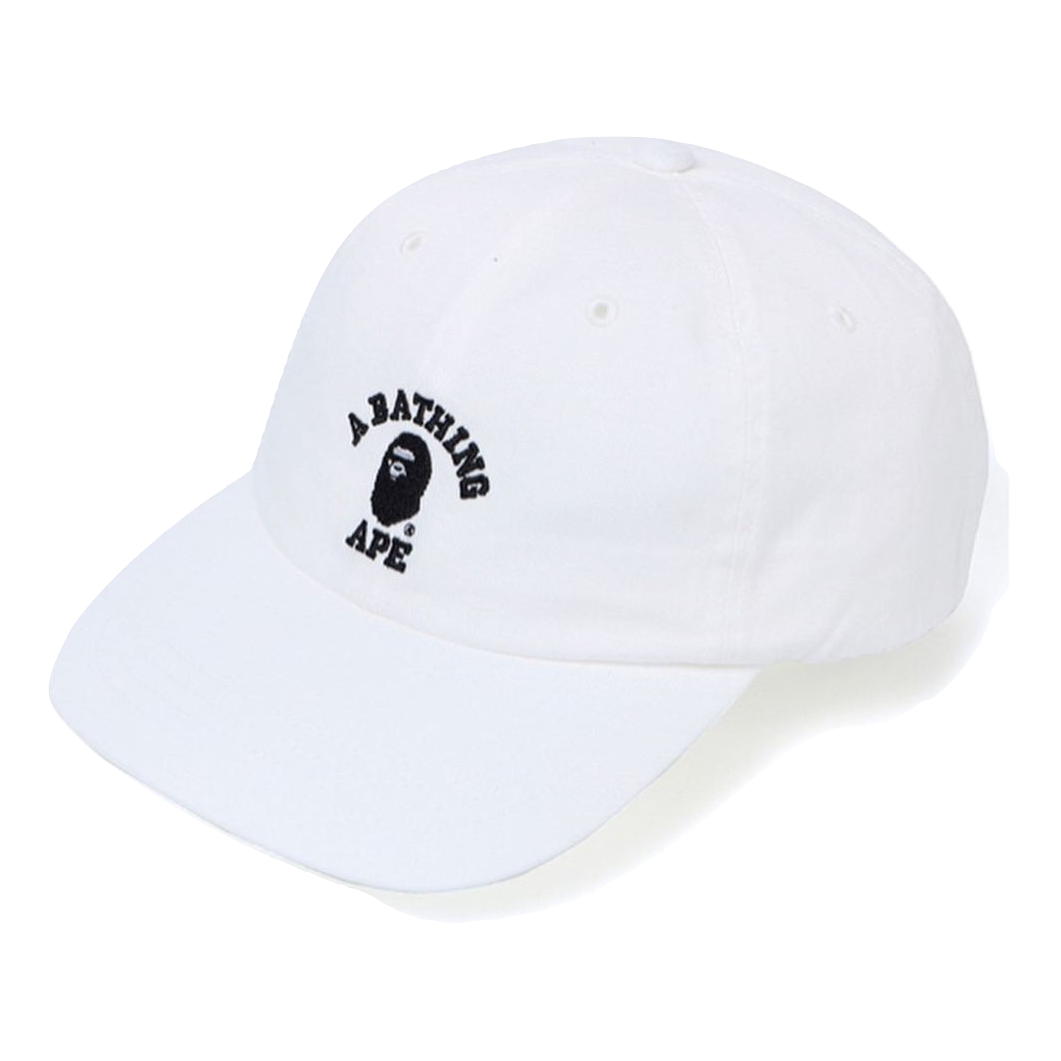 A Bathing Ape College Panel Cap - White