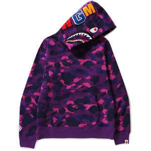 54e981cecafb A Bathing Ape Color Camo Shark Wide Pullover Hoodie - Purple – grails sf