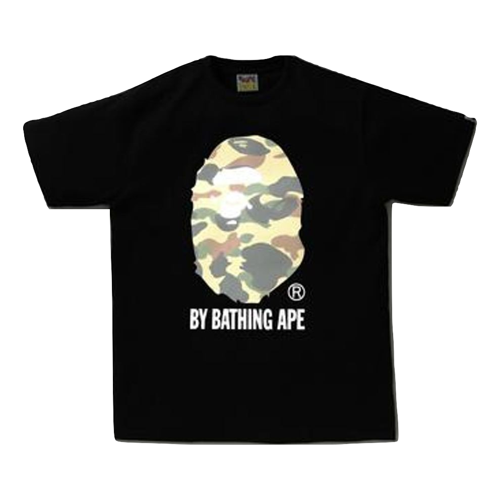 A Bathing Ape Reflector 1st Camo By Bathing Tee - Black/Green Camo - Used