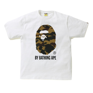 A Bathing Ape Reflector 1st Camo By Bathing Tee - White/Yellow Camo