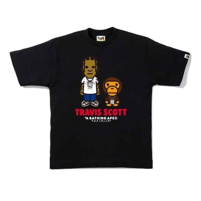 A Bathing Ape Travis Scott Tee - Black